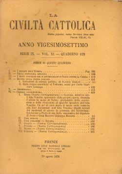 La Civiltà Cattolica. Anno 27, quaderno 628, AA. VV.
