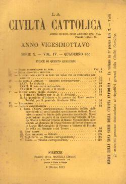 La Civiltà Cattolica. Anno 28, quaderno 655, AAVV