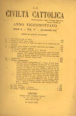 La Civiltà Cattolica. Anno 28, quaderno 656, AAVV