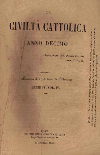 La Civiltà Cattolica. Anno 10, quaderno 234, AA.VV.