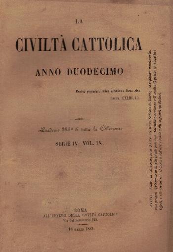 La Civiltà Cattolica. Anno 12, quaderno 264, AA.VV.