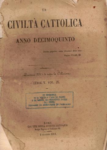 La Civiltà Cattolica. Anno 15, quaderno 331, AA.VV.