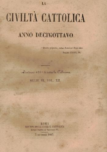 La Civiltà Cattolica. Anno 18, quaderno 425, AA.VV.