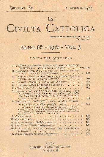 La Civiltà Cattolica. Anno 68, quaderno 1613, AA.VV.
