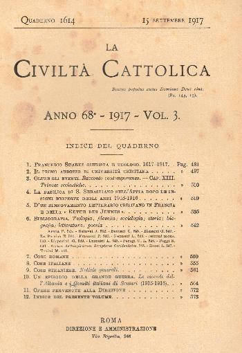 La Civiltà Cattolica. Anno 68, quaderno 1614, AA.VV.