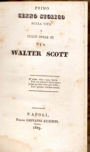 Cenno sulla vita e sulle opere di Walter Scott, Giovanni Rusconi