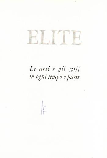 Elite – Le arti e gli stili in ogni tempo e paese – Gli avori in occidente, Massimo Carrà