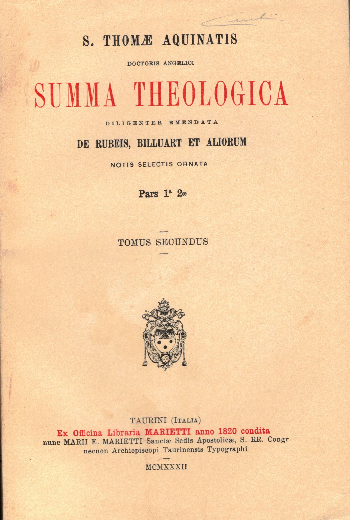 Summa Theologica Pars 1° 2ae Tomus Secundus