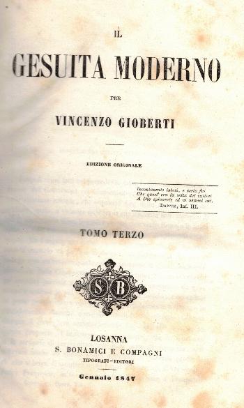 Opere VOL X, Il Gesuita moderno Tomo Terzo, Vincenzo Gioberti