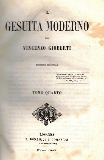 Opere VOL XI, Il Gesuita moderno Tomo Quarto, Vincenzo Gioberti