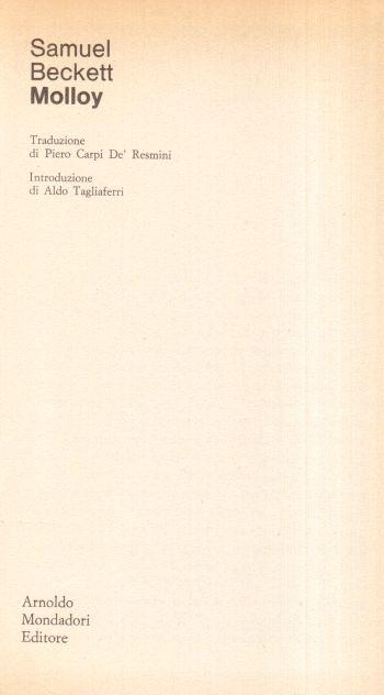 Molloy, Samuel Beckett