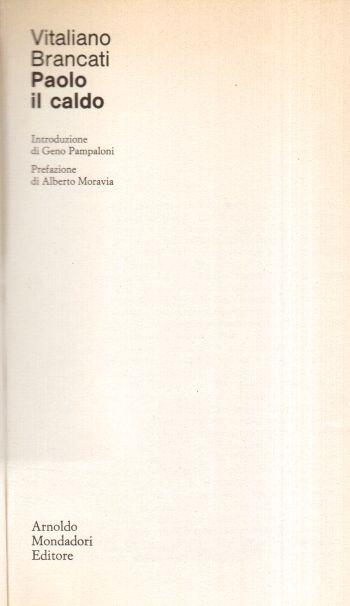 Paolo il caldo, Vitaliano Brancati