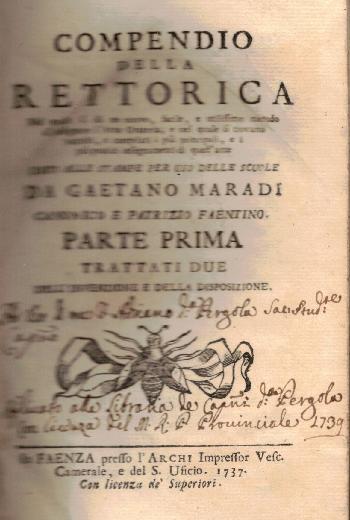 Compendio della rettorica, Gaetano Maradi