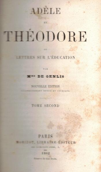Adele et Theodore Tomo II, Madame de Genlis