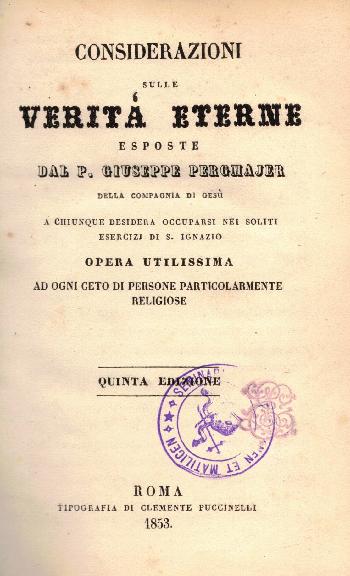 Considerazioni sulle verità eterne, Giuseppe Pergmajer