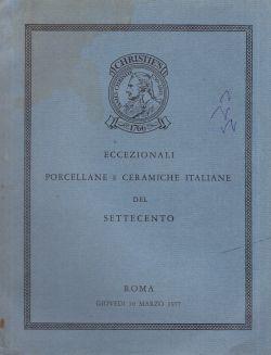 Eccezionali porcellane e ceramiche italiane del Settecento, AA. VV.