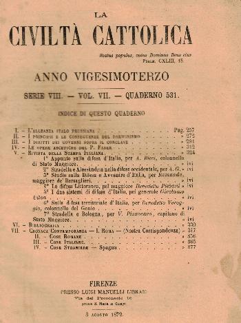 La Civiltà Cattolica. Anno 23, quaderno 531, AA.VV.