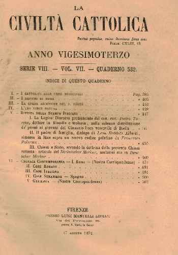 La Civiltà Cattolica. Anno 23, quaderno 532, AA.VV.