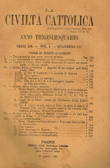 La Civiltà Cattolica. Anno 34, quaderno 782, AA.VV.