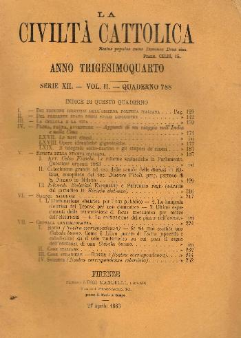 La Civiltà Cattolica. Anno 34, quaderno 788, AA.VV.