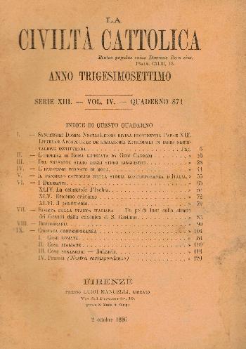 La Civiltà Cattolica. Anno 37, quaderno 871, AA.VV.