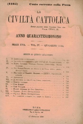 La Civiltà Cattolica. Anno 49, quaderno 1164, AA.VV.