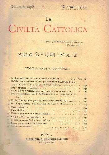 La Civiltà Cattolica. Anno 55, quaderno 1296, AA.VV.