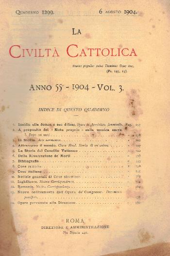 La Civiltà Cattolica. Anno 55, quaderno 1299, AA.VV.