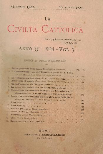La Civiltà Cattolica. Anno 55, quaderno 1300, AA.VV.