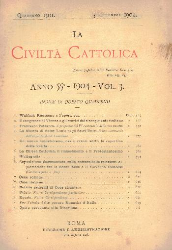 La Civiltà Cattolica. Anno 55, quaderno 1301, AA.VV.