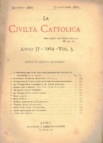 La Civiltà Cattolica. Anno 55, quaderno 1302, AA.VV.