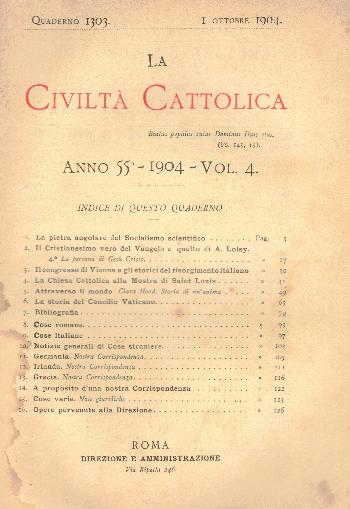La Civiltà Cattolica. Anno 55, quaderno 1303, AA.VV.