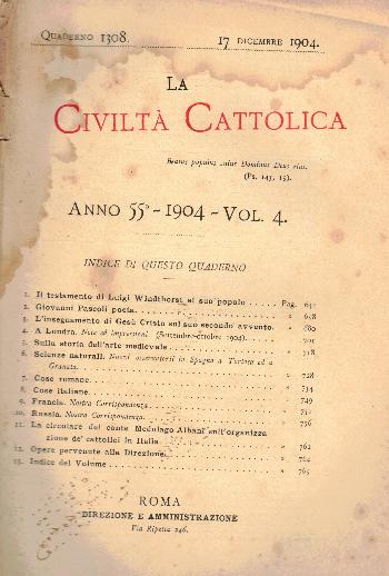 La Civiltà Cattolica. Anno 55, quaderno 1308, AA.VV.