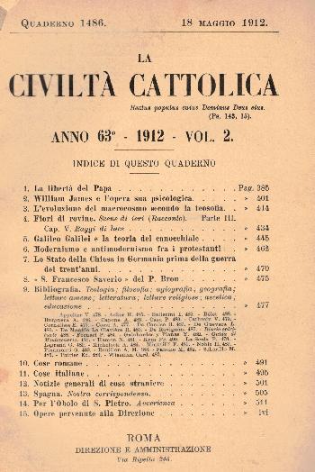 La Civiltà Cattolica. Anno 63, quaderno 1486, AA.VV.