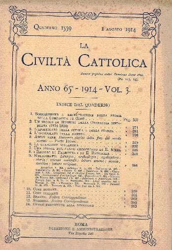 La Civiltà Cattolica. Anno 65, quaderno 1539, AA.VV.
