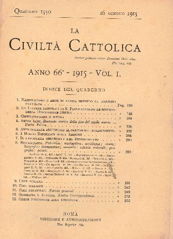 La Civiltà Cattolica. Anno 66, quaderno 1550, AA.VV.