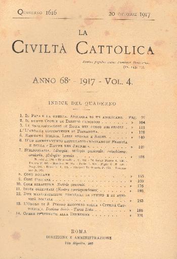 La Civiltà Cattolica. Anno 68, quaderno 1618, AA.VV.
