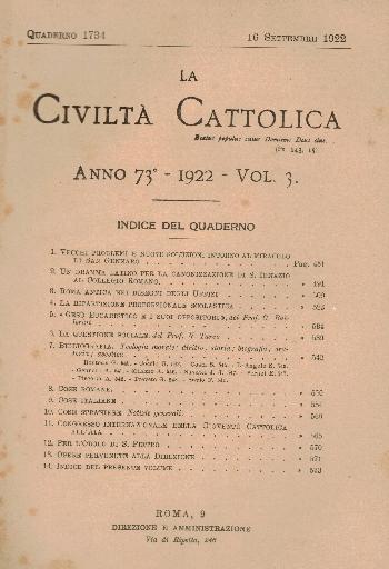 La Civiltà Cattolica. Anno 73, quaderno 1734, AA.VV.