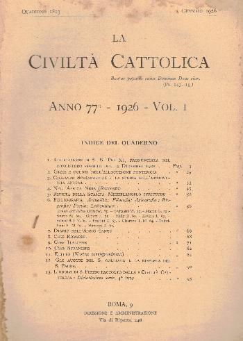 La Civiltà Cattolica. Anno 77, quaderno 1813, AA.VV.