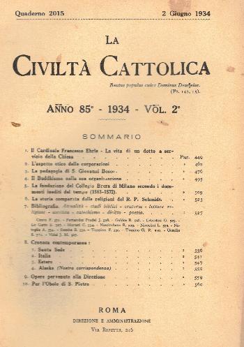 La Civiltà Cattolica. Anno 85, quaderno 2015, AA.VV.