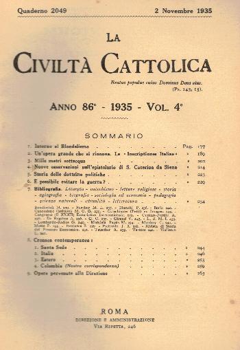 La Civiltà Cattolica. Anno 86, quaderno 2049, AA.VV.
