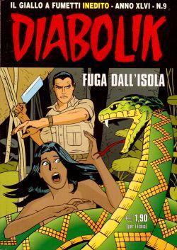 Diabolik Inedito n. 9, Fuga dall'isola, A. e L. Giussani, S. Zaniboni, E. Facciolo