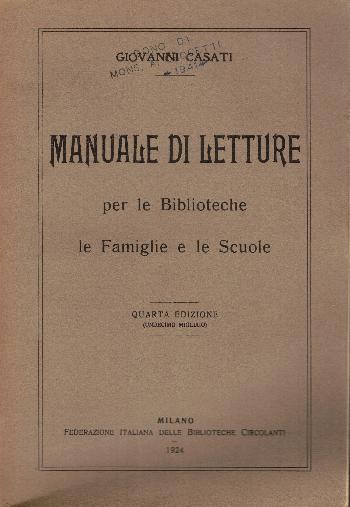 Manuale di letture per le Biblioteche le famiglie e le scuole, Giovanni Casati
