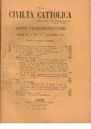 La Civiltà Cattolica. Anno 27, quaderno 622, AA.VV.