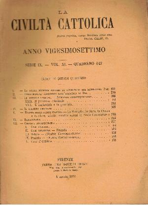 La Civiltà Cattolica. Anno 27, quaderno 627, AA.VV.