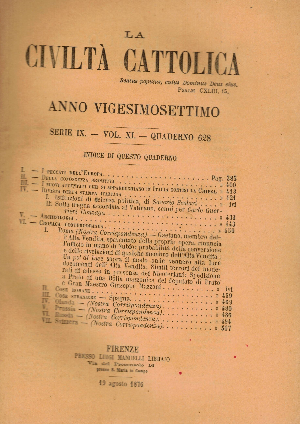 La Civiltà Cattolica. Anno 27, quaderno 628, AA.VV.