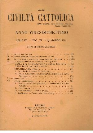 La Civiltà Cattolica. Anno 27, quaderno 629, AA.VV.
