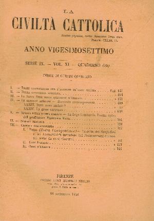 La Civiltà Cattolica. Anno 27, quaderno 630, AA.VV.