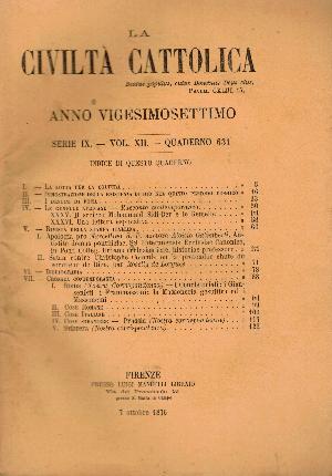La Civiltà Cattolica. Anno 27, quaderno 631, AA.VV.