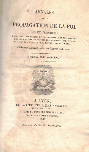 Annales de la propagation de la foi N61, AA.VV.